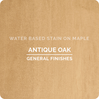 General Finishes Water Based Wood Stain - Antique Oak (ON MAPLE)