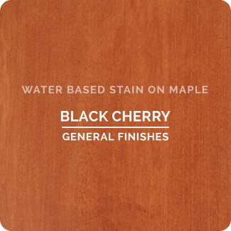 General Finishes Water Based Wood Stain - Black Cherry (ON MAPLE)