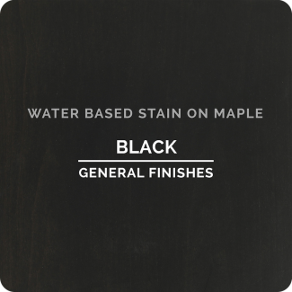 General Finishes Water Based Wood Stain - Black (ON MAPLE)