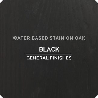 General Finishes Water Based Wood Stain - Black (ON OAK)
