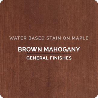 General Finishes Water Based Wood Stain - Brown Mahogany (ON MAPLE)