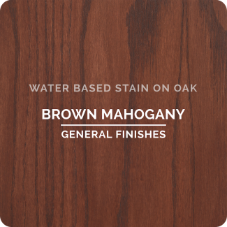 General Finishes Water Based Wood Stain - Brown Mahogany (ON OAK)