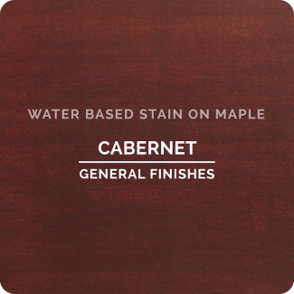 General Finishes Water Based Wood Stain - Cabernet (ON MAPLE)