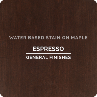 General Finishes Water Based Wood Stain - Espresso (ON MAPLE)