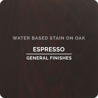 General Finishes Water Based Wood Stain - Espresso (ON OAK)