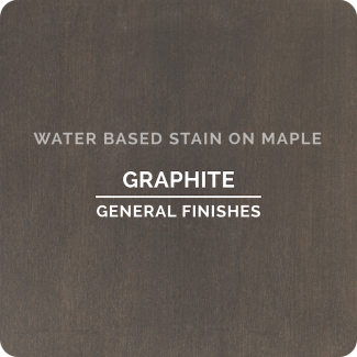 General Finishes Water Based Wood Stain - Graphite (ON MAPLE)