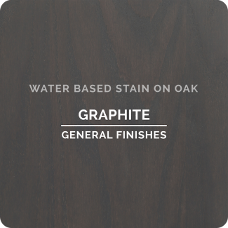 General Finishes Water Based Wood Stain - Graphite (ON OAK)