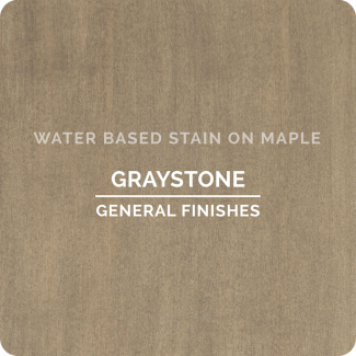 General Finishes Water Based Wood Stain - Graystone (ON MAPLE)