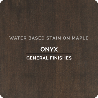 General Finishes Water Based Wood Stain - Onyx (ON MAPLE)