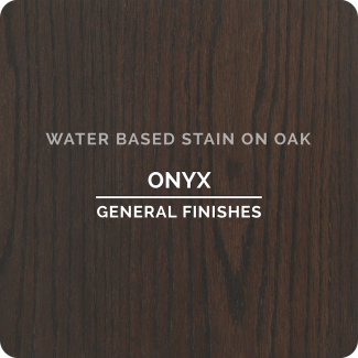 General Finishes Water Based Wood Stain - Onyx (ON OAK)