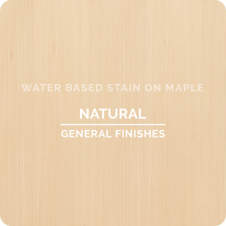 General Finishes Water Based Wood Stain - Natural (ON MAPLE)