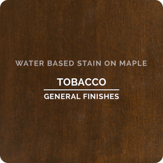 General Finishes Water Based Wood Stain - Tobacco (ON MAPLE)