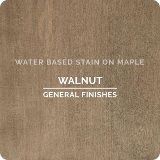 General Finishes Water Based Wood Stain - Walnut (ON MAPLE)