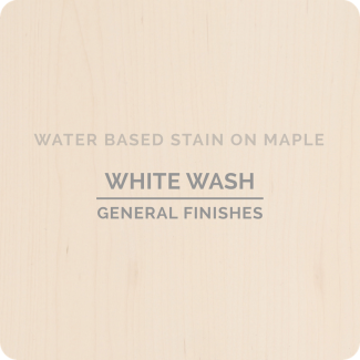 General Finishes Water Based Wood Stain - Whitewash (ON MAPLE)