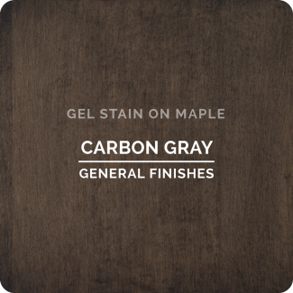 General Finishes Oil Based Gel Stain - Carbon Gray (ON MAPLE)