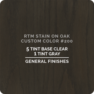 General Finishes RTM Wood Stain Custom Color - #200 (ON OAK)