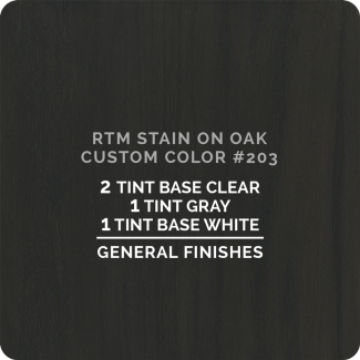 General finishes RTM Wood Stain Custom Color - #203 (ON OAK)