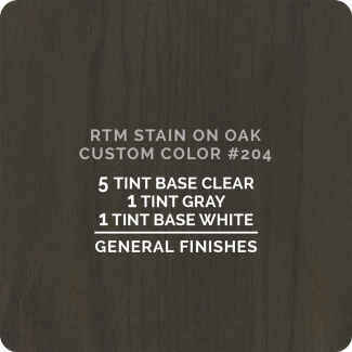 General Finishes RTM Wood Stain Color Custom Color - #204 (ON OAK)