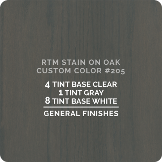 General Finishes RTM Wood Stain Color Custom Color - #205 (ON OAK)