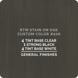 General Finishes RTM Wood Stain Color Custom Color - #206 (ON OAK)