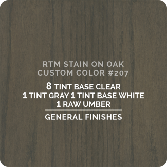 General Finishes RTM Wood Stain Color Custom Color - #207 (ON OAK)