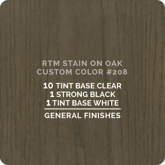 General Finishes RTM Wood Stain Color Custom Color - #208 (ON OAK)