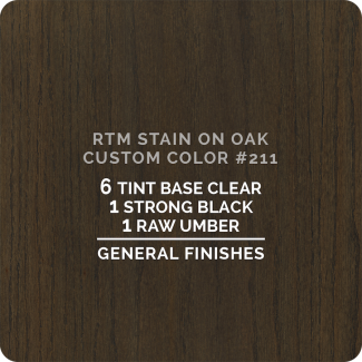 General Finishes RTM Wood Stain Color Custom Color - #211 (ON OAK)