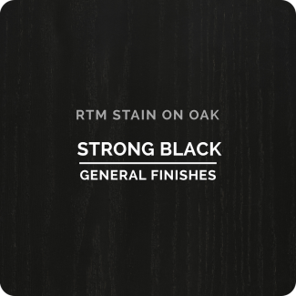 General Finishes RTM Wood Stain Stock Color - Strong Black (ON OAK)