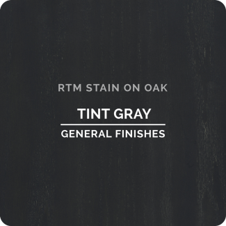 General Finishes RTM Wood Stain Stock Color - Tint Gray (ON OAK)