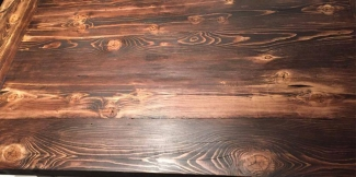 Uneven Gel Stain on Knotty Pine