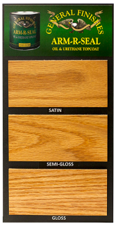 Arm-R-Seal Urethane Topcoat Sheen Board
