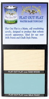 Flat Out Flat Water Based Topcoat Sheen Board