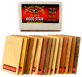 Oil Based Penetrating Wood Stain Color Chips