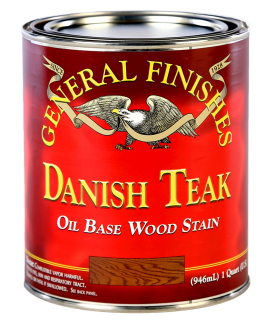 General Finishes Danish Teak Oil Based Penetrating Wood Stain, Quart