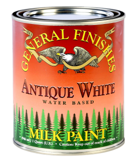 General Finishes Antique White Milk Paint, Quart