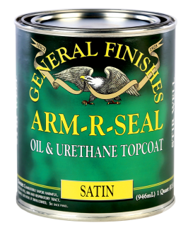 General Finishes Satin Arm-R-Seal Oil Based Topcoat, Quart