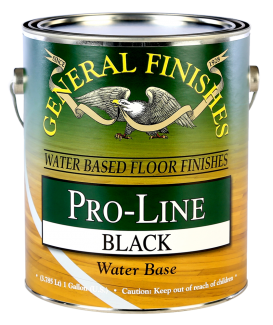 General Finishes Black Pro-Line Floor Paint, Gallon
