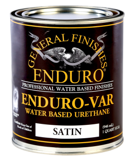 General Finishes Enduro-Var Water Based Urethane Topcoat, Quart