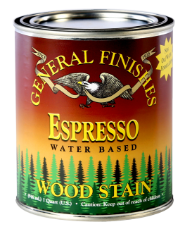 General Finishes Espresso Water Based Wood Stain, Quart
