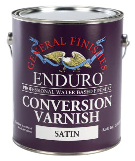 General Finishes Satin Water Based Topcoat Enduro Conversion Varnish, Gallon