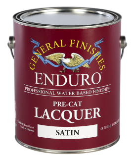 General Finishes Water Based Topcoat Enduro Pre-Cat Lacquer, Satin, Gallon