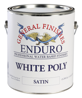 General Finishes Pigmented White Poly, Gallon, Satin
