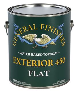 General Finishes Satin Water Based Topcoat Exterior 450, Gallon