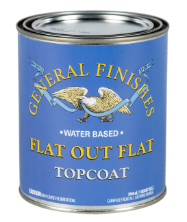 General Finishes Water Based Topcoat Flat Out Flat, Quart