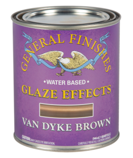 General Finishes Van Dyke Brown Water Based Glaze Effects, Quart