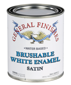 General Finishes Water Based Brushable White Enamel Satin, Quart