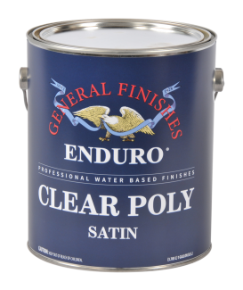 General Finishes Satin Water Based Topcoat Enduro Clear Poly, Gallon