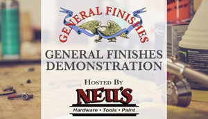 General Finishes Demonstration at Neu's Hardware Woodworking Show in Menomonee Falls, WI