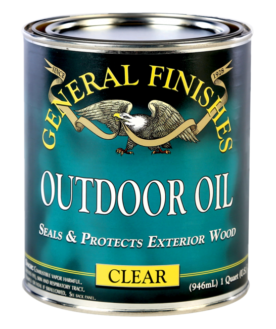 Nice General Finishes Clear Outdoor Oil, Quart