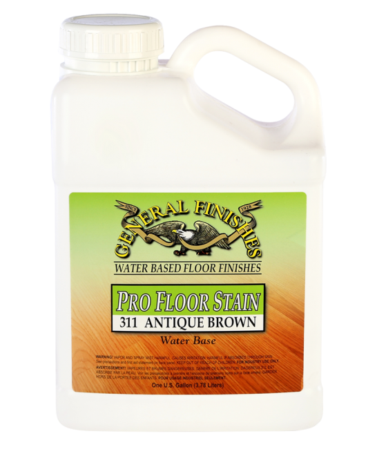 General Finishes 311 Antique Brown Pro Floor Stain, Gallon